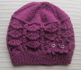 Purple_hat_in_shevron_stitch_with_2_flowers_1_thumb