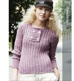 Filtes-1330-ribbedsquareplacketpullover